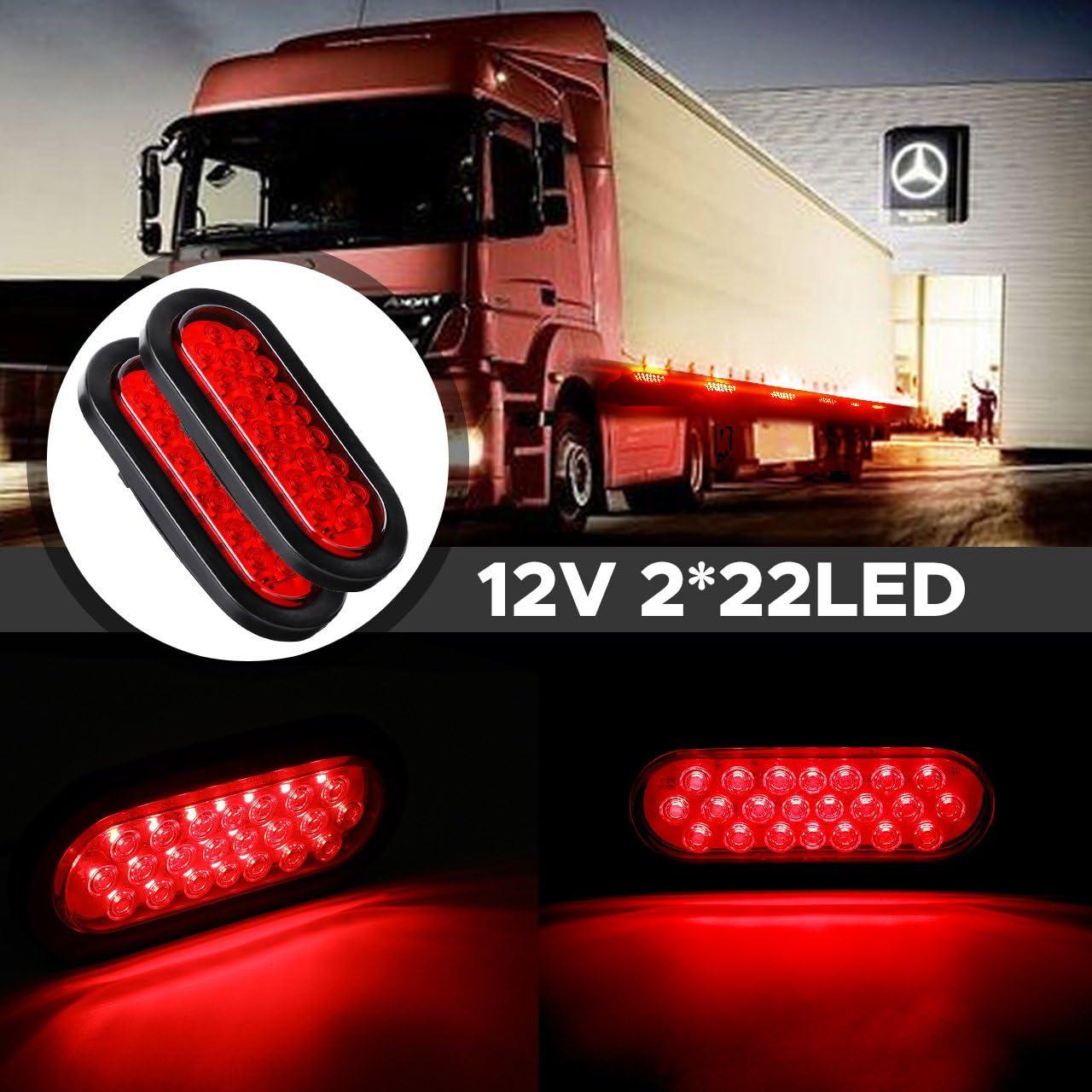 Audew Universal Tail Lights Reversing Lights Turn Signal Tail Lights Reversing Lights Tail Lights Set Wired for Truck Trailer Camper Van Truck Tractor 22 2LED