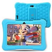 Tablette Tactile Enfants Dragon Touch Tablette 7 Pouces WiFi & Bluetooth, IPS HD 1024x600, Android 7.1, Quad Core 1 GO Ram 8 GO Rom, Kidoz & Google Play Préinstallé, Contrôle Parental, avec Etui Bleu
