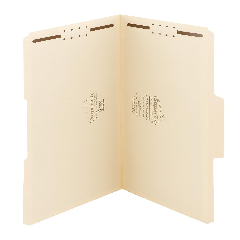Smead Manila Fastener Folder 1/3 Legal - Carpeta (27,94 cm, 22,86 cm, Cream)