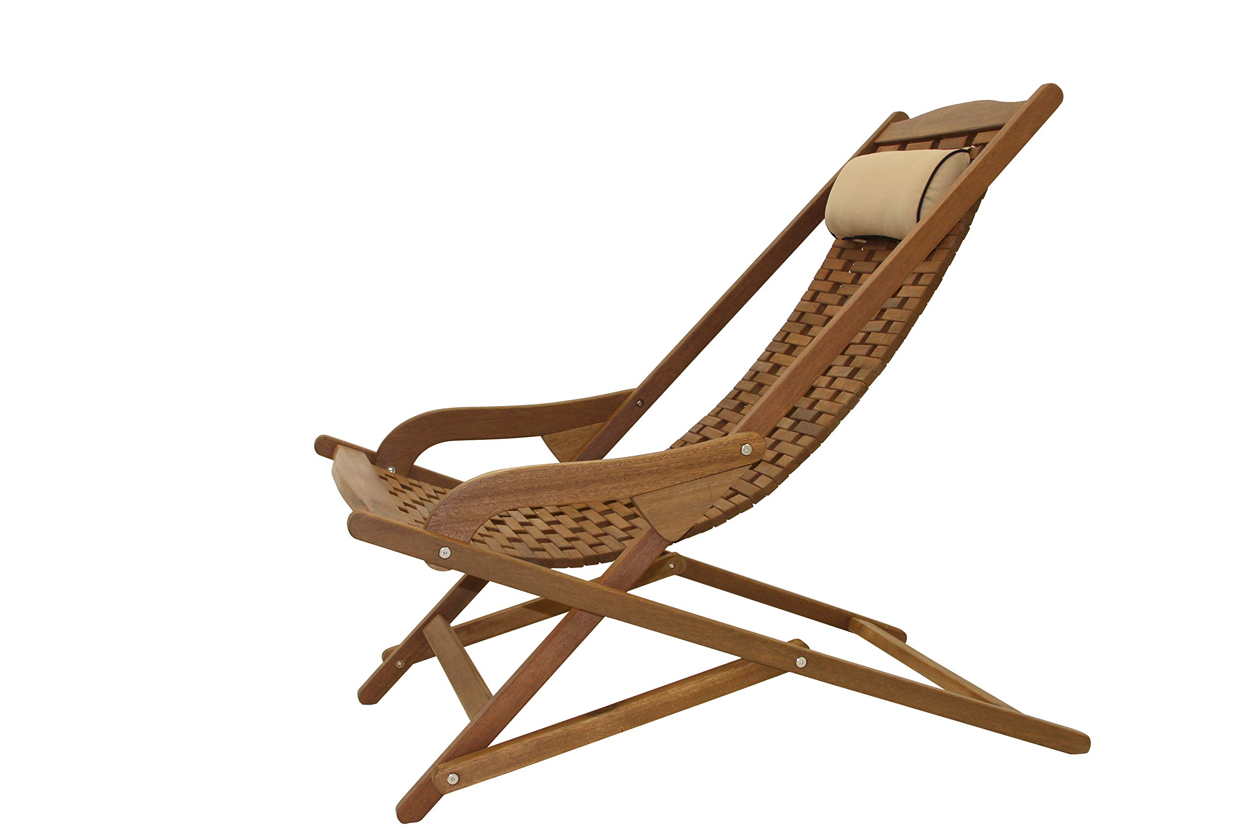 The Original Eucalyptus Swing Lounger  with Pillow by Outdoor Interiors