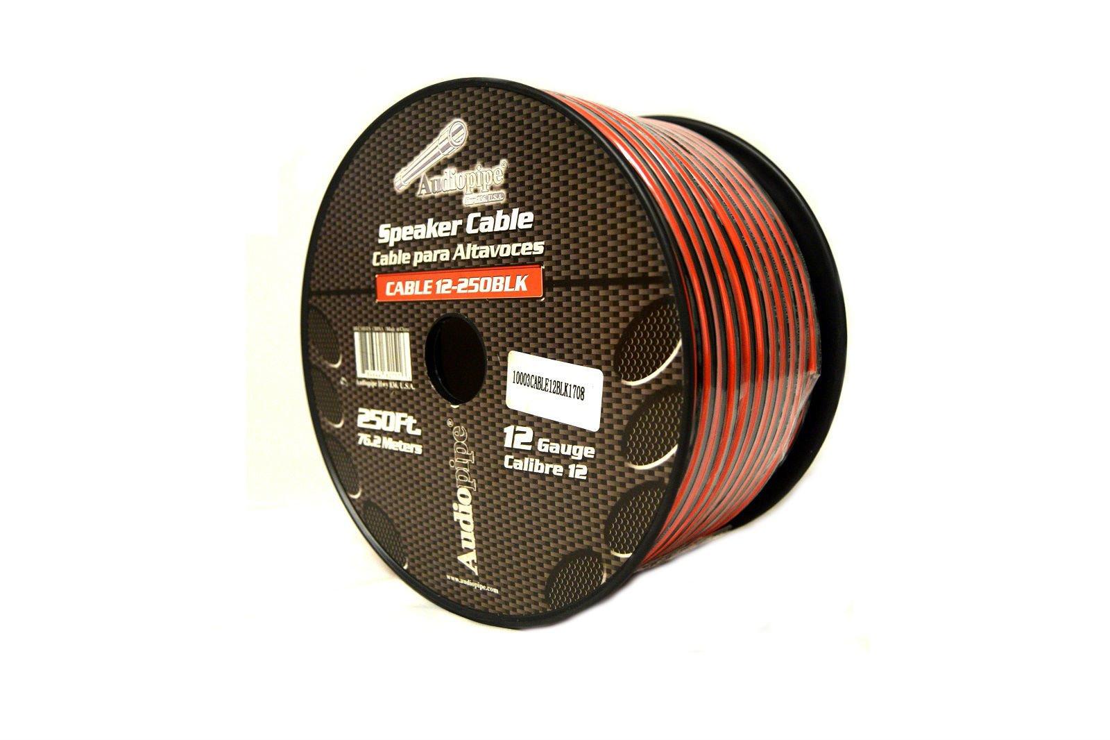 12 Gauge 250 Feet Red Black Speaker Wire Stranded Copper Clad Home Audio Sound