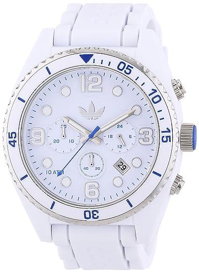 adidas adh2929 - Reloj de cuarzo para hombre, con correa de silicona, color blanco: Amazon.es: Relojes