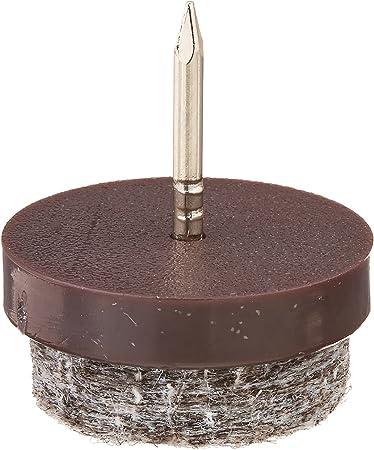 50 Pcs Clavo de Almohadilla de Mueble Almohadillas de Fieltro para Muebles 24 mm Fieltro Patas Sillas Protectores para Suelo Almohadillas para Muebles de Madera Patas de Silla