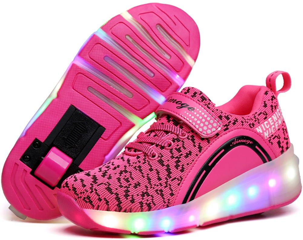 UBELLA Unisex Boys Girls LED Lighting Single Wheel/Double Wheels Roller Skate Sneakers