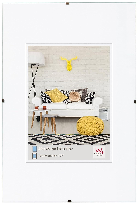 Walther Design Porta imágenes sin Marco Fotos, Vidrio Transparente, 24X30 Cm: Amazon.es: Hogar