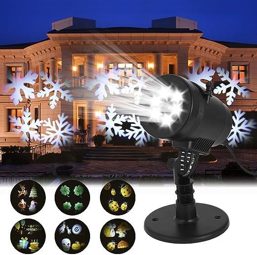 Luces de Proyector Navidad LED con 14 Patrones Diapositivas,Luz de ...