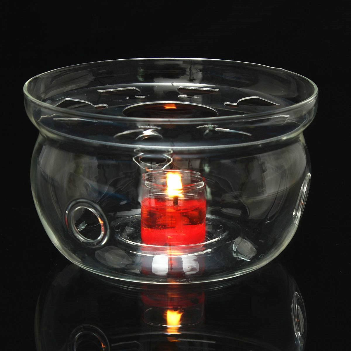 KINGSO Glass Teapot Warmer Heating Base Clear 12676mm