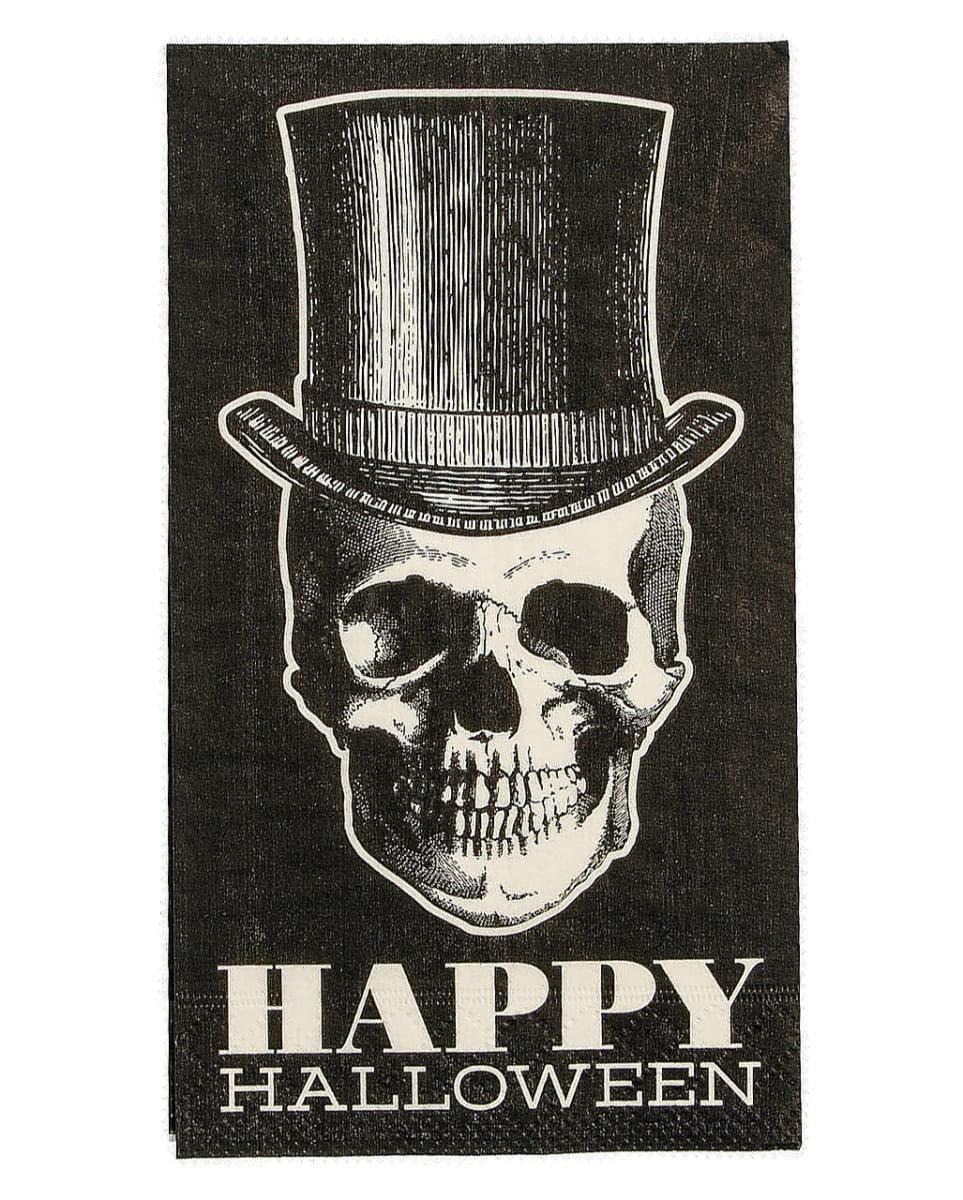 Serviettes De Table Hipster Skull 16 Pc. Horror-Shop