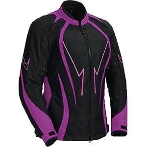 Juicy Trendz Mesdames Femmes Blindé Imperméable Veste Cordura Textile Moto Motorcycle Jacket