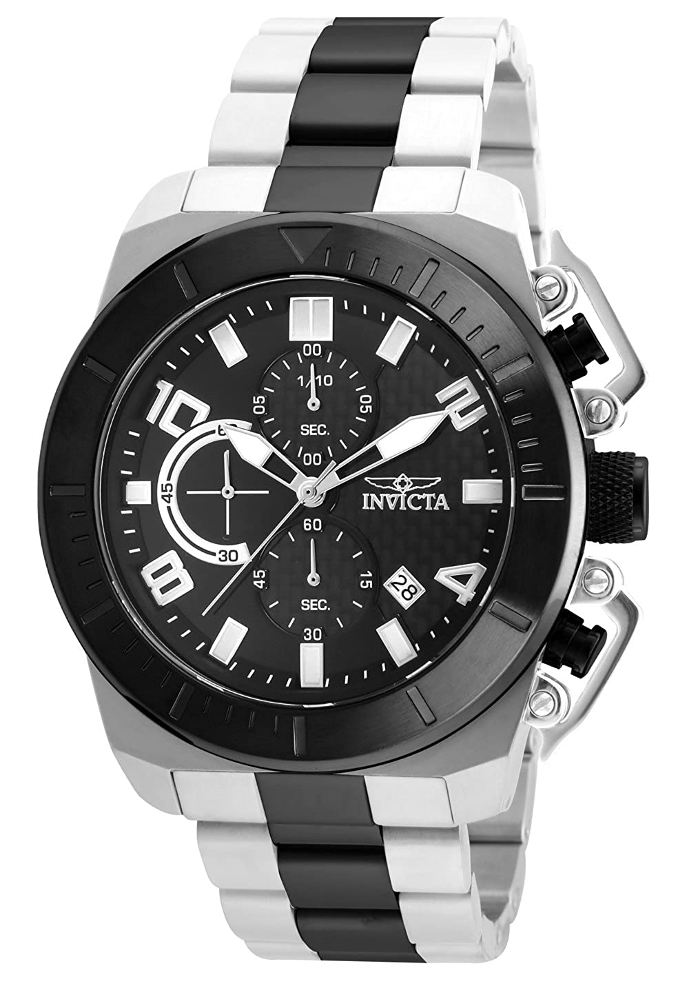 Amazon.com: Invicta Mens Pro Diver Japanese-Quartz Watch with Stainless-Steel Strap, Two Tone, 24 (Model: 23408: Watches