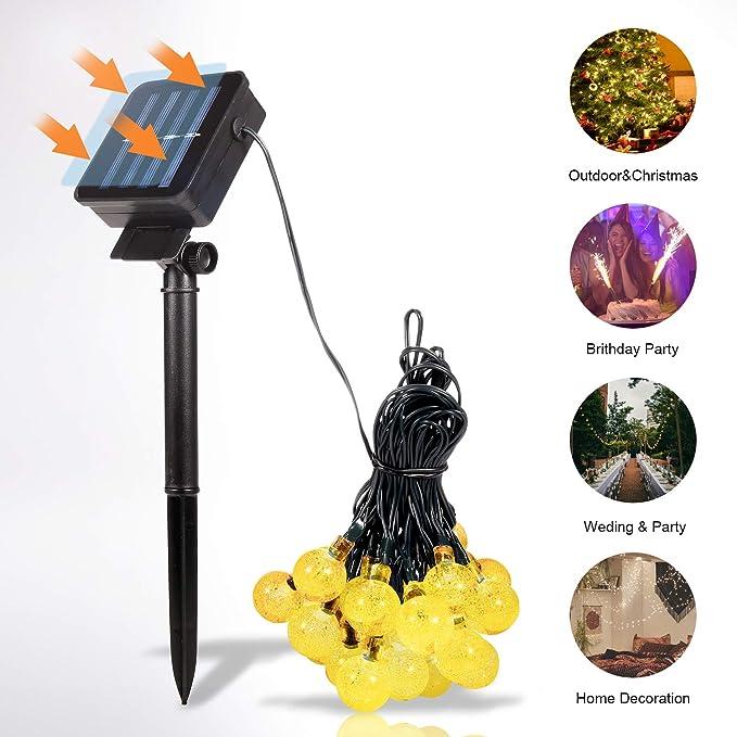 17 opinioni per Sunnest Catena Luminosa Solare, Luci Esterno Energia Solare Impermeabile 6.5M 30