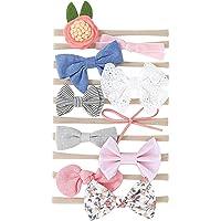 Hocaies Vendas del bebé Hairband de los bebés recién Nacidos Diademas de bebé anchas con lazo Diadema Elástica Niñas…