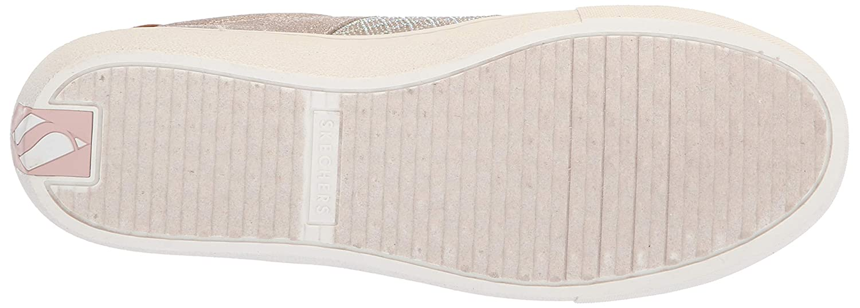 Skechers73817 - Goldie - Glitzy Glitzy Glitzy Mitzy. Quilted Rhinestone Qtr Trim Metallic Lace Up. Damen 95bfa6