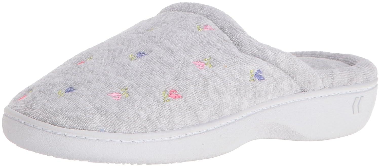 ISOTONER Women's Terry Slip On Clog Slipper with Memory Foam for Indoor/Outdoor Comfort 96005