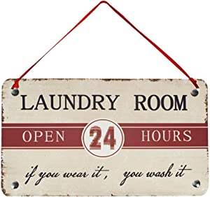 Laundry Room Open 24 Hours Metal Antique Laundry Room Sign Wisdom Sign Wall Décor Wall Art