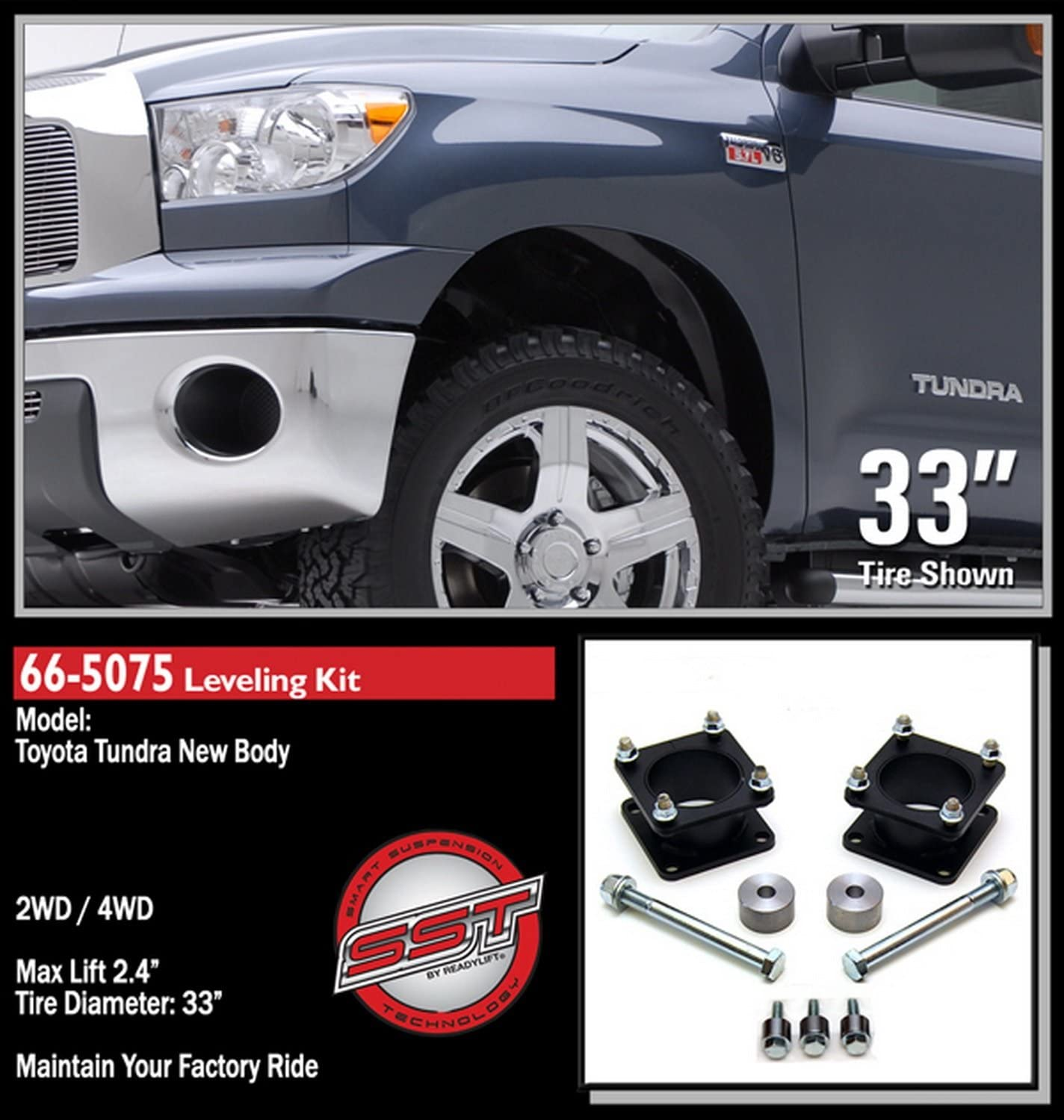 ReadyLift 66-5075 Toyota Tundra Front Leveling Suspension Strut Extension