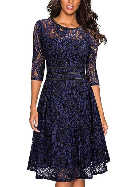 826439a43ef13 Miusol Women's Vintage Floral Lace Cocktail Evening Party Dress