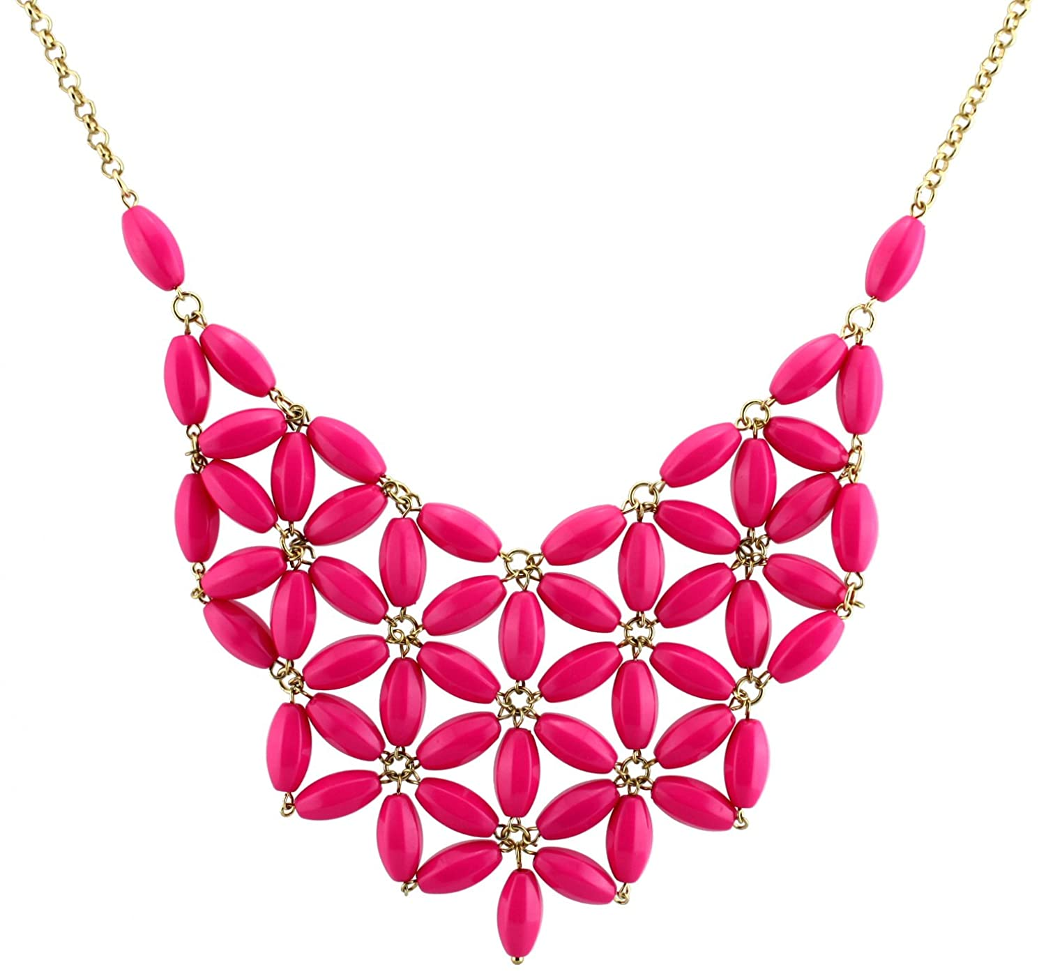 vous bomb pink fabuleux products img fv jewellery daisy collections necklace