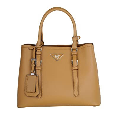 822e0ec8863b Prada Saffiano Cuir Leather Handbag, Caramel: Amazon.co.uk: Shoes & Bags