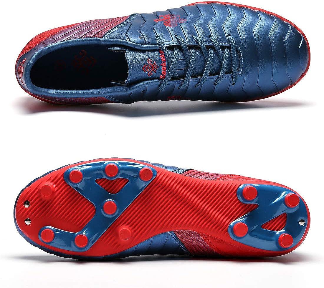 Saekeke Chaussures de Football pour Enfants FG//TF Entrainement Professionnelle Chaussure de Foot Adolescents