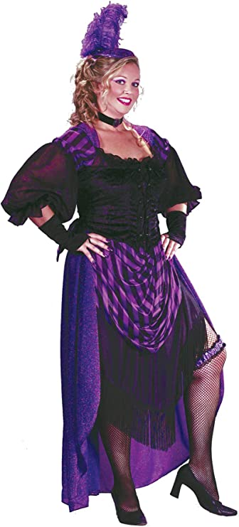 Victorian Costumes: Dresses, Saloon Girls, Southern Belle, Witch Lady Maverick Adult Womens Outfit Fancy Dress Halloween Plus Size Costume Plus (16-24) $55.94 AT vintagedancer.com