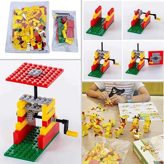 c139be2baedd Camcesory Building Blocks 244pcs Set to Create Funny Turntable   26  Different Animals - Building Toys Gift for Boys   Girls