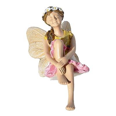 """Miniature Fairy Garden """"Kathleen"""" Sitting Fairy : Garden & Outdoor"""