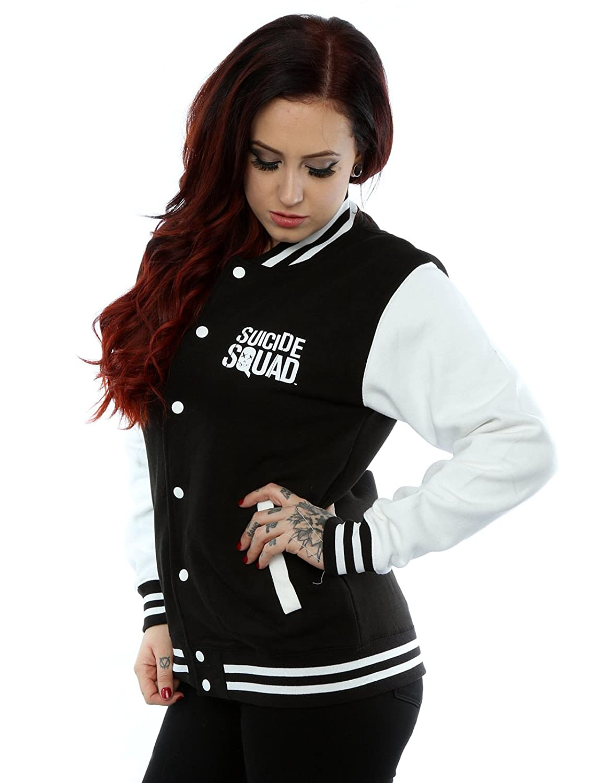 Suicide Squad Women's Harley Quinn Icon Varsity Jacket: Amazon.co.uk:  Clothing