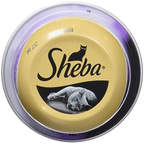 Sheba - Dômes Aux Filets de Thon avec Crevettes Roses 80 g - Pack de 24
