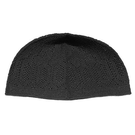 Amazon.com  Plain Black Cotton Open-Knit Turkish Muslim Islamic Kufi Hat  Taqiya Takke Kofia Skull Cap  Clothing 22ad0d5348fe