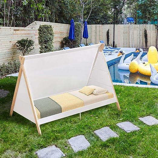 Huisen Furniture - Marco de Madera para Cuna de jardín con toldo Exterior de 190 cm para Cama de Dormitorio de Adultos y niños: Amazon.es: Jardín