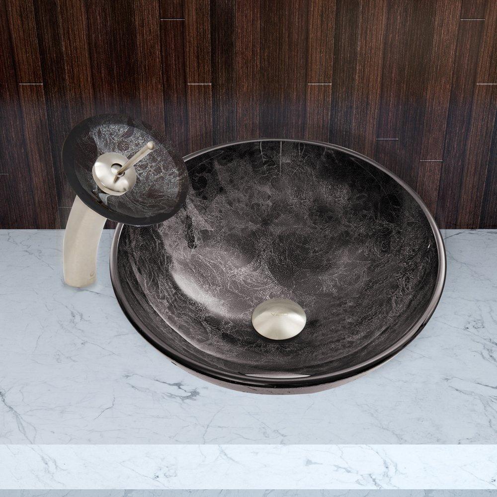 Full Size of Large Size of Medium Size of. Bathroom Modern Bathroom Vessel  Sink Tempered Glass ...
