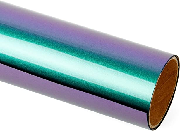 *Neo Chrome Heat Transfer Vinyl HTV T-Shirt Roll Iron On Press Holographic Opal