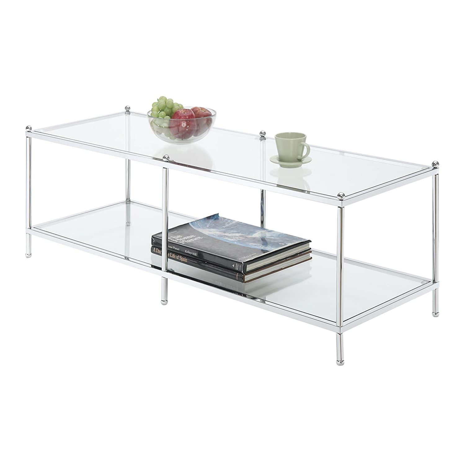 Italian Glass Coffee Table.Amazon Com Svitlife Logan Glass Coffee Tablelogan Glass Coffee