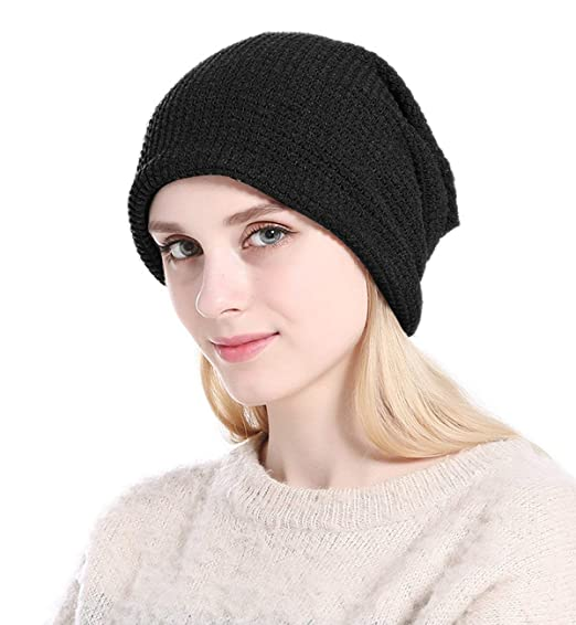 5c2a1cb306e8c Image Unavailable. Image not available for. Color  Sumolux Womens Knitted  Baggy Beanie Hat ...