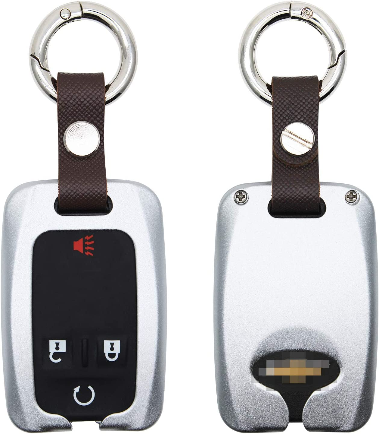 Metal New Car Key Covers Remote Starters Shell 5 Button Key Cap Case for GMC