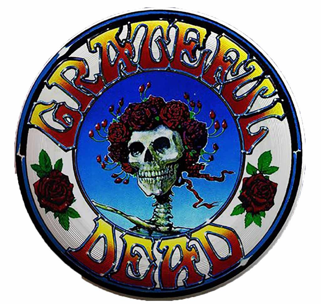 Jayli Grateful Dead Discraft UltraStar 175g ultimate flying disc | GD-UD (Skull and Roses Full Print) by Jayli