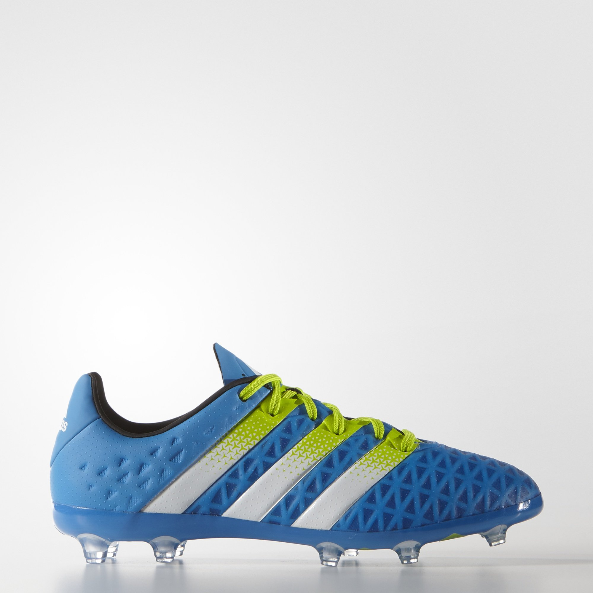 Adidas Soccer Cleats Size 4.5 - Ace 16.1 FG/AG Junior, Blue/White/Green by adidas