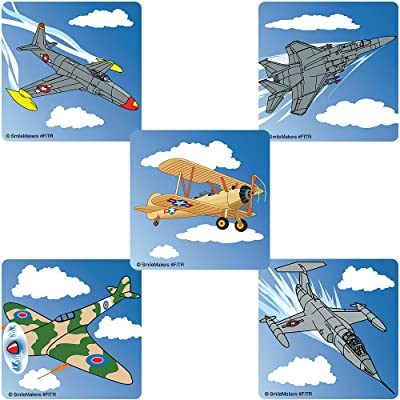 SmileMakers Jet Fighters Stickers 100-pak: Toys & Games