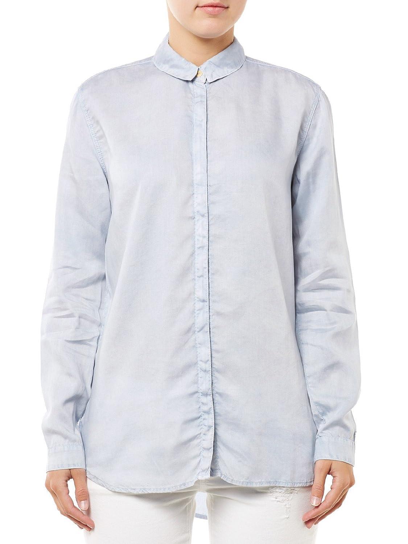Tommy Hilfiger Bluse Damen Drapey Boxy L-S Shirt GDTE Hellblau Women