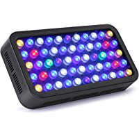 LED Aquarium Light Roleadro 165W Dimmable Coral Reef Light with Full Spectrum Color Suitable for 55-75 Gallon Freshwater and Saltwater Fish Tank