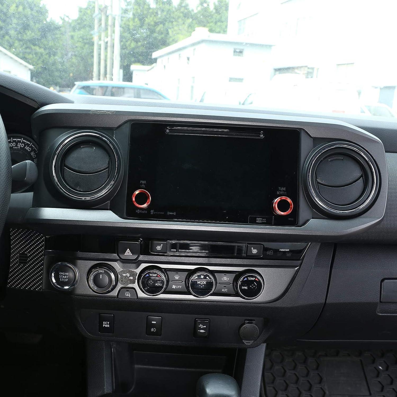 Red LLKUANG Volume knob /& Rearview mirror adjustment Knob for 2016-2019 Toyota Tacoma Aluminium Alloy