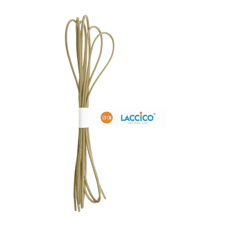0f0516d65af58 LACCICO - Men's Round Waxed Shoelaces Diameter Ø 1/8' (2.0 mm) - BEIGE  (Bisquit)