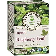 Traditional Medicinals Organic Raspberry Leaf Herbal Tea, 16 Tea Bags (Pack of 6)
