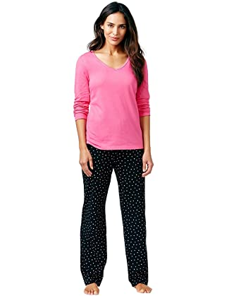 26820887c5 Charter Club Women's 2 Piece Mix It Top and Pants Pajama Set at Amazon Women's  Clothing store: