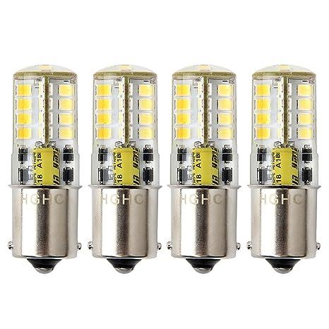Bombilla LED BA15s 12V AC / DC 1156 1141 S8 base de contacto simple, bombilla