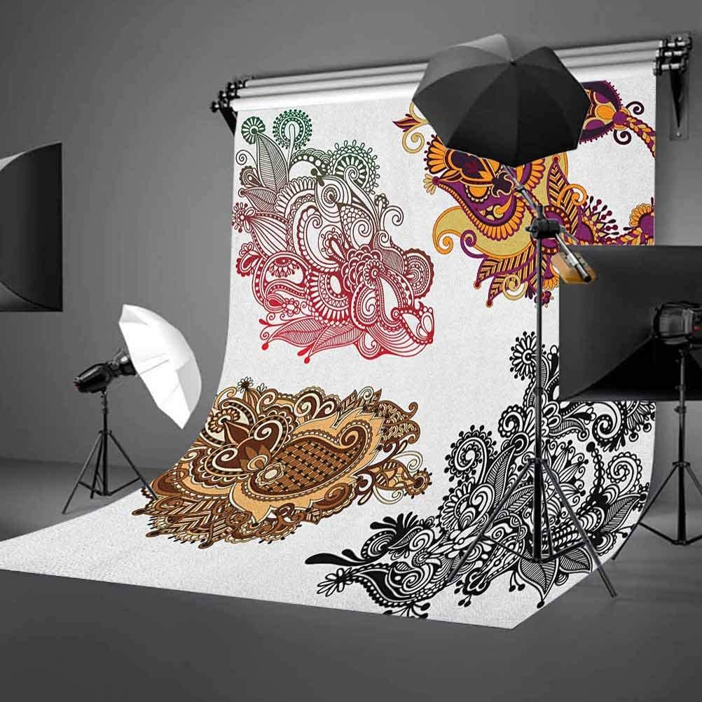 7x10 FT Zodiac Aries Vinyl Photography Background Backdrops,The First Sign of the Zodiac Frame Design with Cartoon Animal Icon and Symbol Background Newborn Baby Portrait Photo Studio Photobooth Props