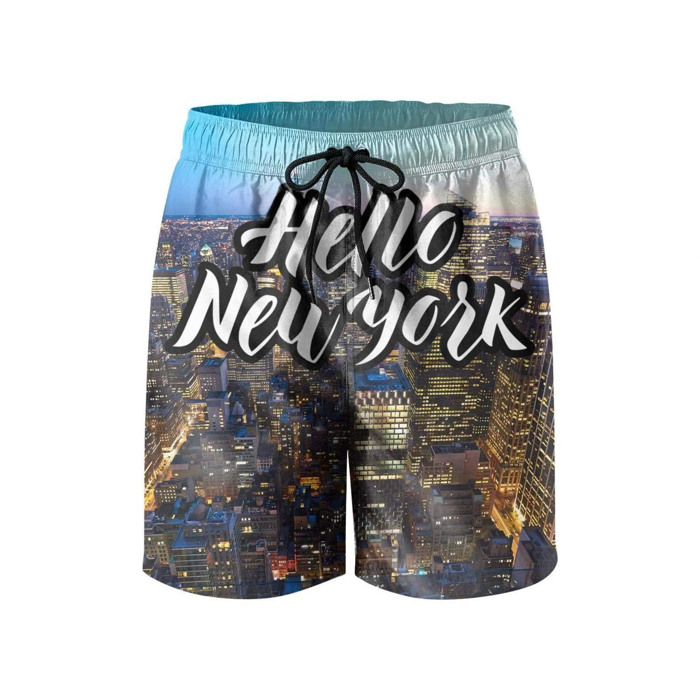 Love NY and New York Loves You Man Boardshort Summer Soft Beach Shorts Swim