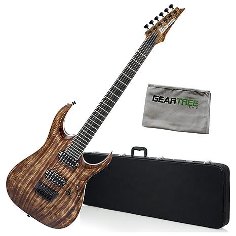 Ibanez rgaix6uabs RGA hierro etiqueta guitarra eléctrica – envejecido marrón manchado W/Carcasa rígida y