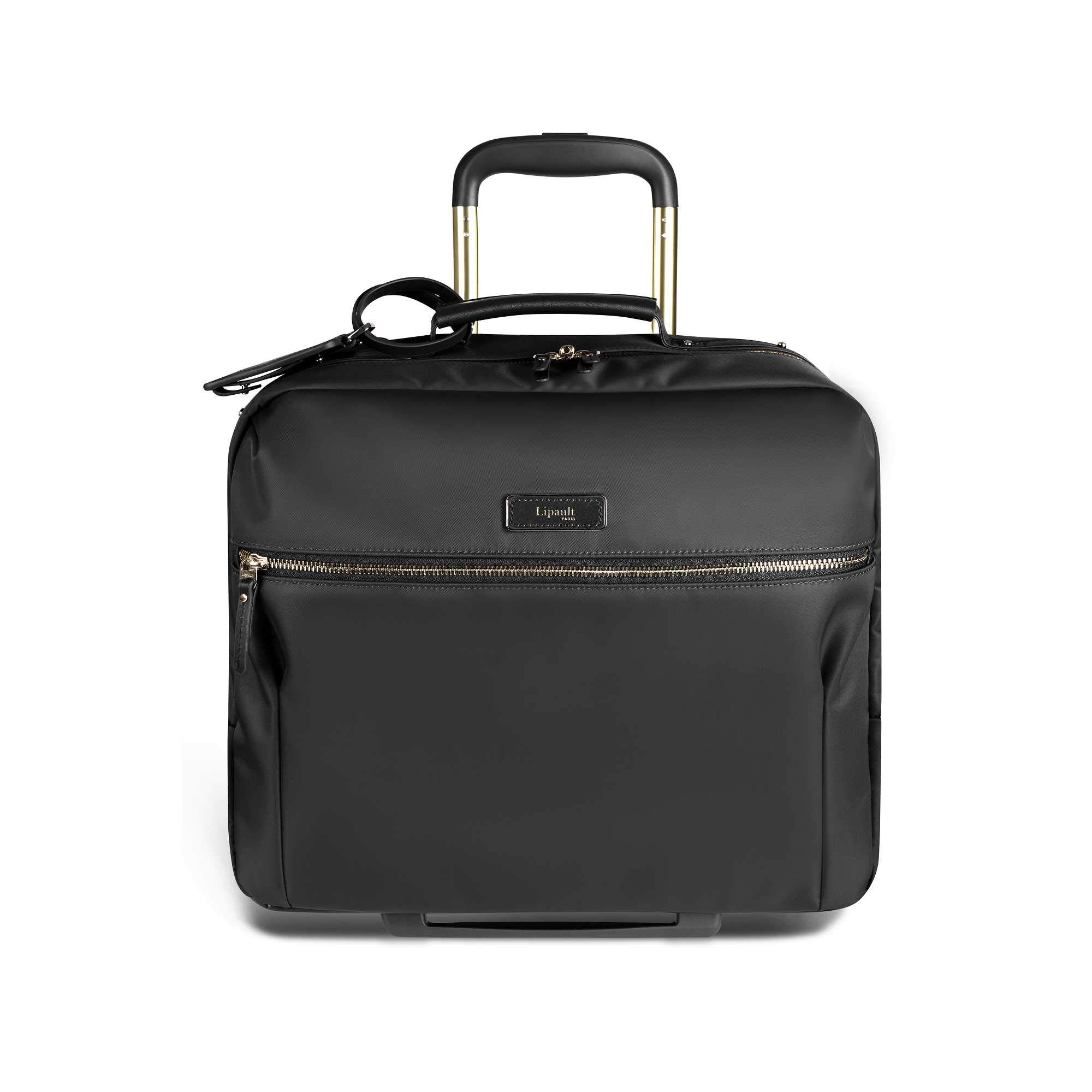 Lipault - Business Avenue Rolling Tote - 15'' Laptop Wheeled Briefcase Bag for Women - Jet Black